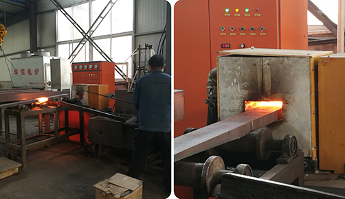 Flat steel heating
